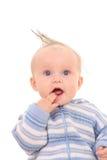 6 van het babymaanden meisje Stock Fotografie