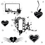 6 vector Valentine abstract elements Stock Images