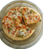 6 veggie pizza 2 (path included) Royalty Free Stock Photos