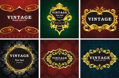 6 vintage style frame Stock Image