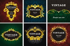 6 vintage style frame Stock Photo