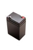 6 volts de bateria isolada com trajeto de grampeamento Imagens de Stock