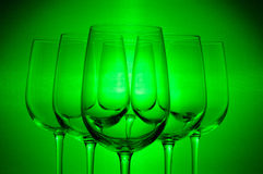 6 wine glasses Royalty Free Stock Image
