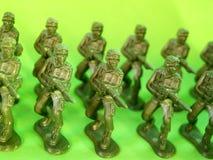 6 wojsk zielony plastik Fotografia Royalty Free