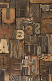 6 woodtype Obrazy Royalty Free