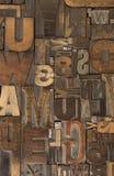 6 woodtype 免版税库存图片