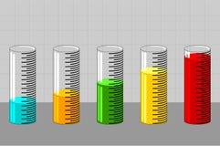 6 wykres Fotografia Stock
