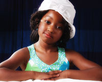 6 year old. Young black child 6 years old posiing for a pageant contest Royalty Free Stock Photos