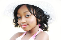 6 year old. Young black child 6 years old posiing for a pageant contest Royalty Free Stock Image
