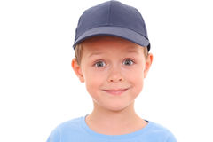 6 years old boy. Portrait of 5-6 years old boy isolated on white stock image