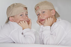 6 years old identical twins Stock Photography