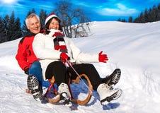 6 zabaw seniora zima Fotografia Stock