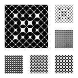 6 zwart-witte Patronen Royalty-vrije Stock Foto