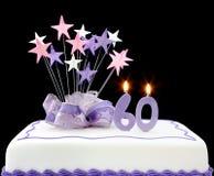 60ο κέικ στοκ φωτογραφία