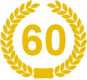 60 έτη στεφανιών δαφνών Στοκ φωτογραφία με δικαίωμα ελεύθερης χρήσης