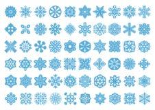 60 καθορισμένο snowflakes διάνυσμα Στοκ Εικόνες