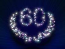 60 звезд номера годовщины Стоковые Фотографии RF