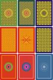 60 90 задних карточек mm играя сторону x Стоковая Фотография RF
