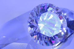 60 blå grader diamantsikt Arkivbild