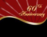 60. Hochzeits-Jahrestag Stockbild