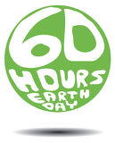 60 Hours Earth Day Retro Stock Image