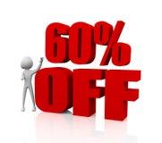 60% korting Royalty-vrije Stock Foto