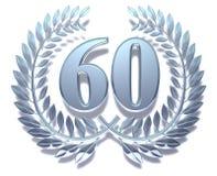 60 laurowy wianek Zdjęcie Royalty Free
