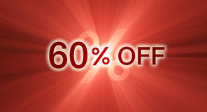 60 percentage off discount red banner Royalty Free Stock Image