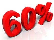 60 percenten Stock Illustratie