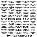 60 plemienny ustalony tatuaż Zdjęcia Stock
