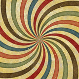 60's 70's Retro Swirl Funky Wild Spiral Rays Stock Image