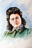 60 s portretów kobieta obraz royalty free