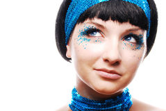 60's style woman Stock Photography