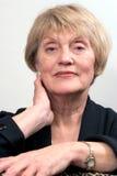 60-talaffär henne kvinna Royaltyfri Foto