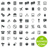 60 valuable creative business icons. Isolated business icons. 60 of them Royalty Free Stock Photos