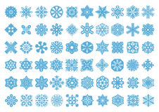 60 Vector Snowflakes Set Stock Images