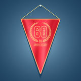 60 years anniversary vector icon, logo. Graphic design element for decoration for 60th anniversary card Stock Image