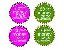 60DaysMoney achter Stock Illustratie