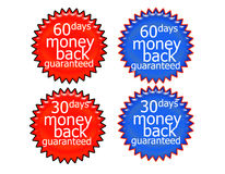 60DaysMoneyBack. 60 Days money back guaranteed red and blue Royalty Free Illustration