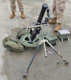 60mm mortelusmc Royaltyfria Bilder
