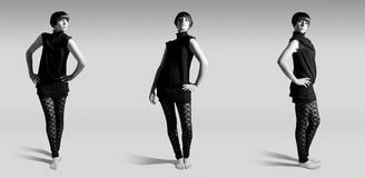 60s经典时装模特儿样式 图库摄影