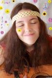 60s dziewczyny nastoletnia gitara Zdjęcie Royalty Free