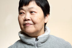 60s Senior Asian Woman Royalty Free Stock Images