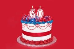 60th торт Стоковые Фотографии RF
