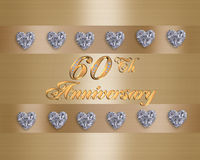 60th anniversary stock illustration