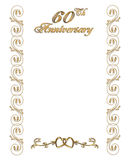 60th anniversary invitation border vector illustration