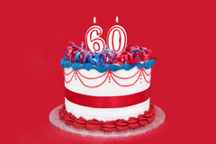 60th Cake Royalty Free Stock Photos