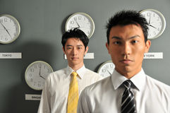 61个企业时钟办公室 免版税图库摄影