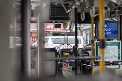 日光,日本- 6月18 :在日光旅游讯息铈前面 免版税库存照片