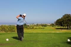 62高尔夫球运动员 库存图片